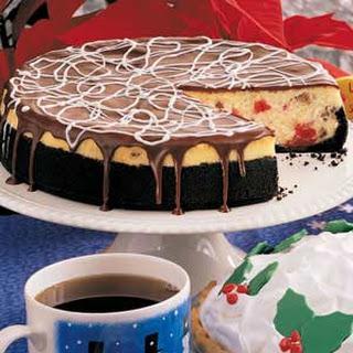 Chocolate Cherry Cheesecake.