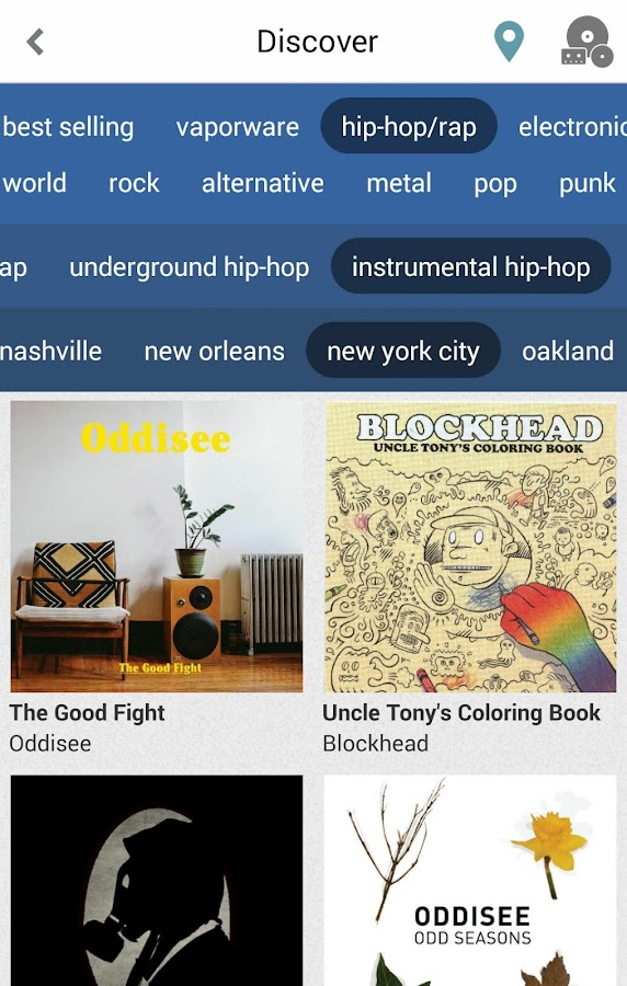 Bandcamp - screenshot