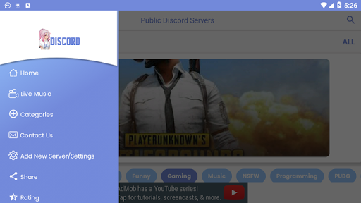 Public Discord Servers – Invitations For Servers Apk Latest Version