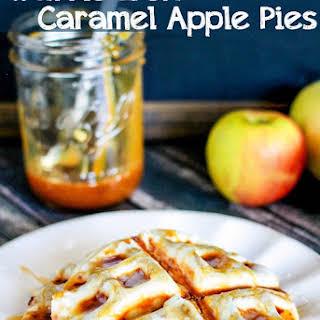Waffle Iron Caramel Apple Pies.