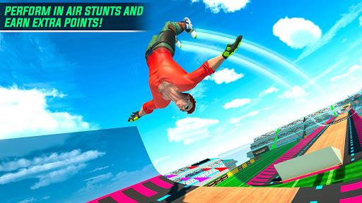 Sky Roller Skate Stunts Racing u2013 Impossible Tracks android2mod screenshots 6