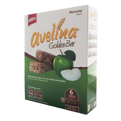 cereal avelina golden bar manzana 132gr