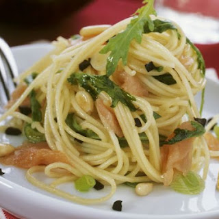 Smoked Fish and Arugula Pasta.