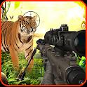 Animal shooting hunter game icon