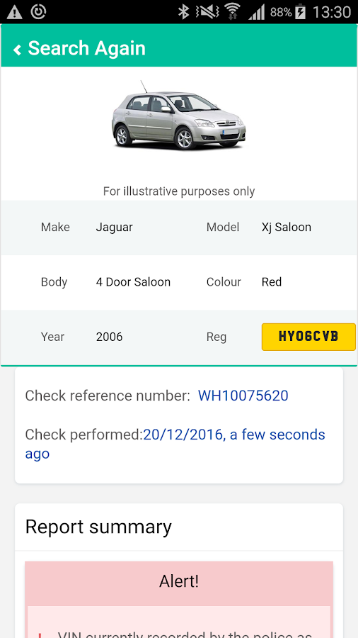 Instant Car Check- screenshot