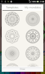 Mandalas coloring pages (+200 free templates) APK screenshot thumbnail 16
