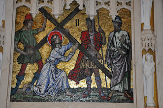 Photo: Second station: Christ carries the cross