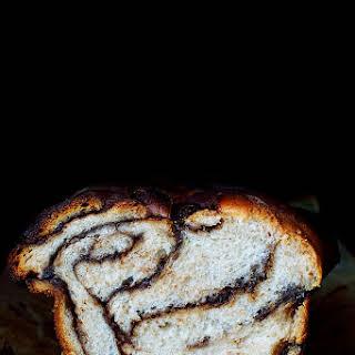 Nutella Swirled Banana Yeast Bread.