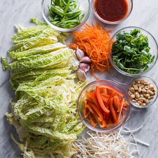 Cabbage Vegetable Pad Thai.