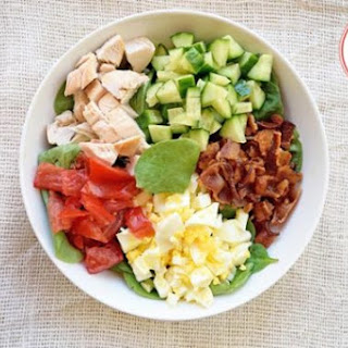 Low Carb Spinach Cobb Salad