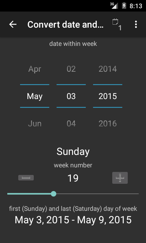 TKWeek - screenshot