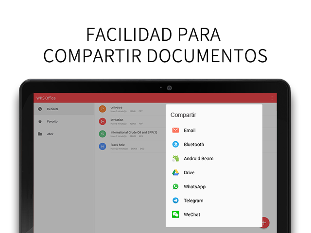 WPS Office - Word, Docs, PDF, Note, Slide & Sheet: captura de pantalla