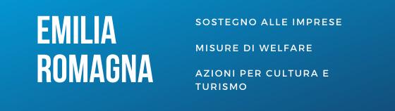 Aiuti coronavirus Emilia-Romagna