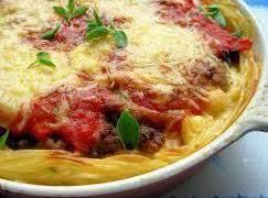 Beef Spaghetti Pie Recipe