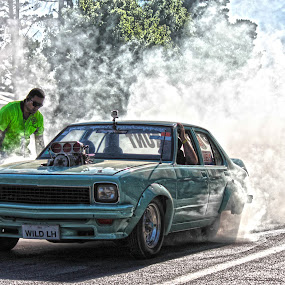 by Michael Miller - Sports & Fitness Motorsports ( car, events, tyres, show, summernats, race, smoke, rod, cars, smoking, tires, hot, burnout )