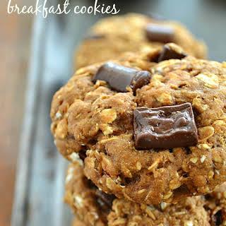 Healthy Banana Chocolate Breakfast Cookies.