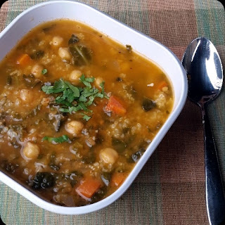 Curry Bean Soup With Quinoa.