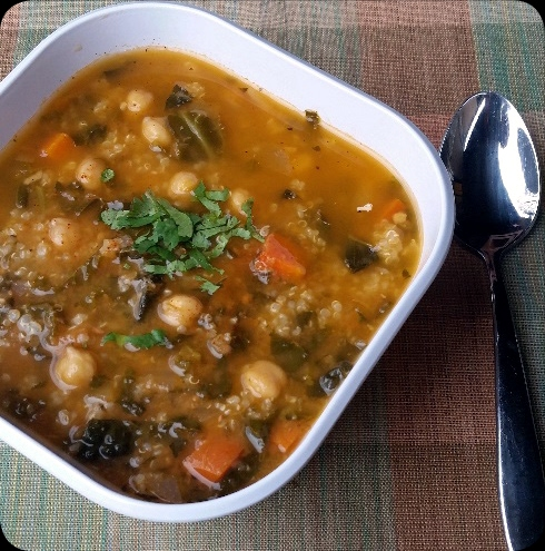 Curry Bean Soup With Quinoa