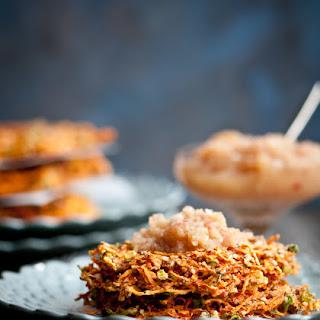 Raw Yam and Carrot Savory Pancakes Recipe