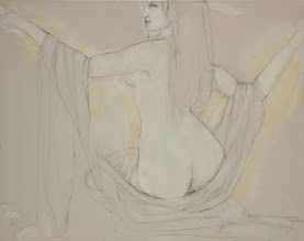 """Photo: Untitled2, sketch slightly underexposed, 24"""" x 30"""", graphite on stretched canvas"""
