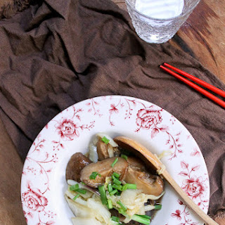 Braised Mushrooms and Chinese Cabbage