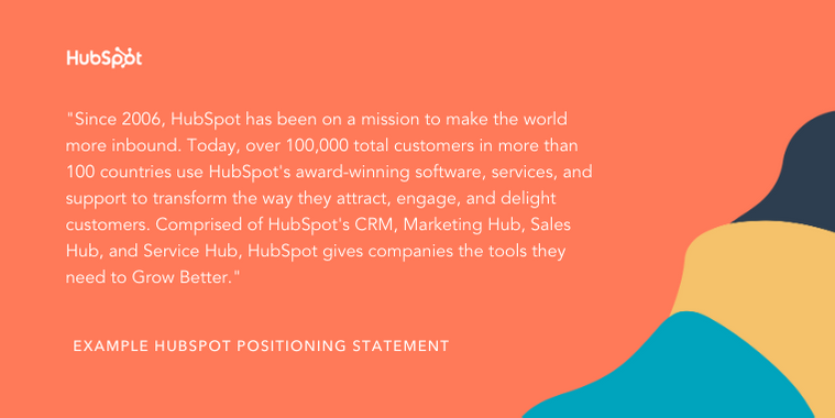 hubspot positioning statement