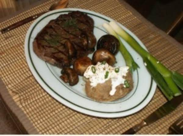 Greek Steak (rib Eye) Recipe