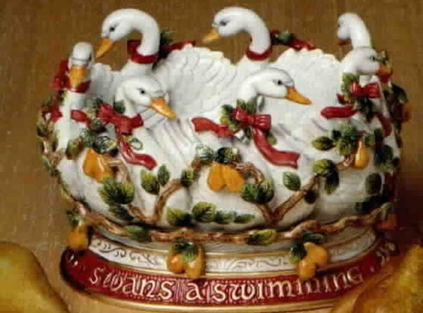 Seven Swans A-Swimming = the seven gifts of the Holy Spirit  1. Wisdom 2. Understanding 3. Counsel...