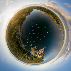 by Aaron Priest - Digital Art Things ( maine, coast, dji, fishing, harbor, boats )