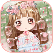 Cuteness Girl Theme with Pink Rose