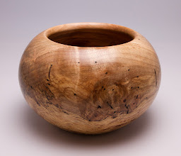 Photo: Michael J. Colella, bowl 6x8 Spalted Maple Burl