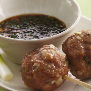 Vietnamese Meatball Lollipops with Dipping Sauce Recipe