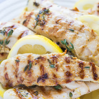 Grilled Lemon Thyme Chicken.