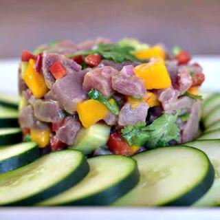 Fresh Tuna, Avocado & Mango Ceviche.