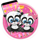 Pink Cute Lovely Panda