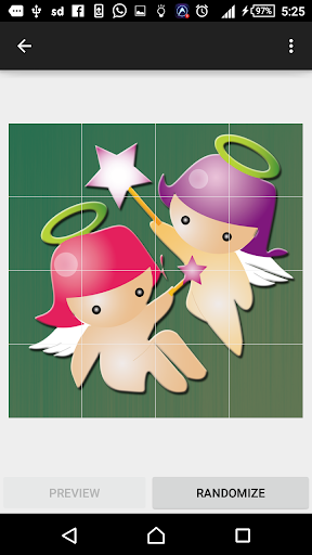 Cute Angel slide puzzle 4 screenshots 2