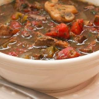 Leftover Roast Beef Italian Stew.
