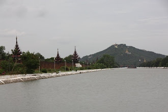 Photo: Year 2 Day 55 - View of Mandalay Hill and the Palace Moat and Wall
