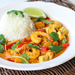 Shrimp and Tofu Coconut Curry.
