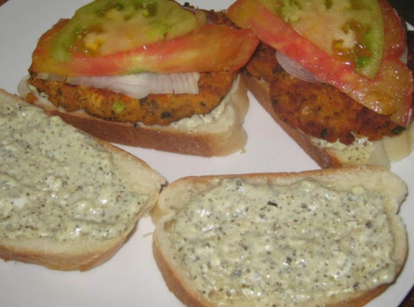 Build your veggie burger to your liking. We used orange & green heirloom tomatoes,...