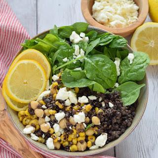 Black Lentil Salad with Corn.