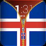 Iceland Flag Zipper Lockscreen