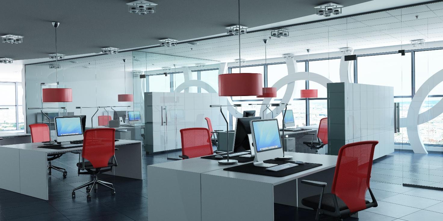 Obsah obrázku patro, interiér, židle, oblast a kancelář