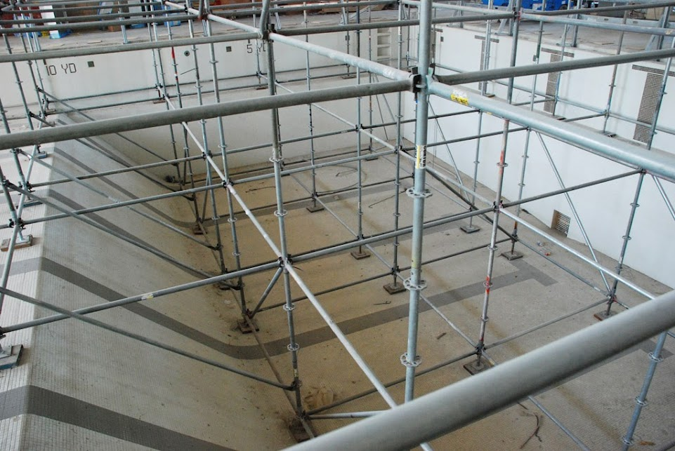 Dancing Amp Scaffolding On Plymouth Whitemarsh Swimming Pool