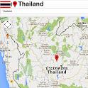 Thailand map icon