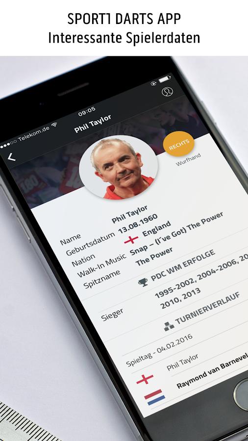 sport1 darts wm app