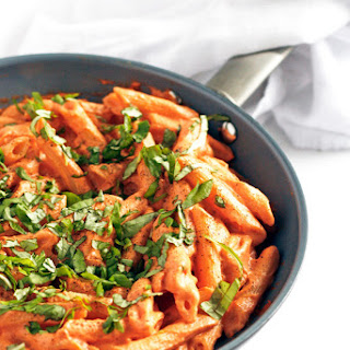 Tomato Basil Cream Pasta.