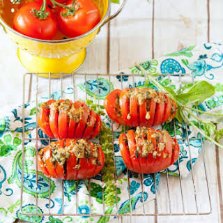 Pesto Stuffed Tomatoes.