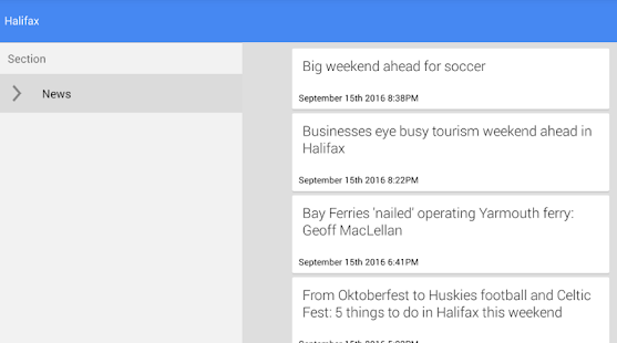 Halifax News - náhled