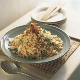 Chili Fried Rice with Crab and Thai Basil.